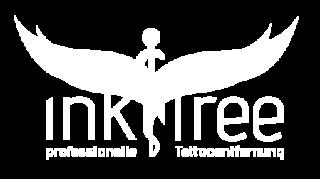 weißes Logo ink free